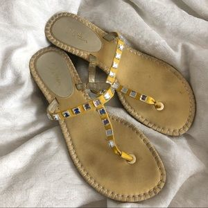 Cole Haan Silver Studded Sandals